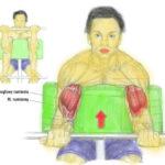 Ćwiczenie przedramion (biceps) ze sztangą na modlitewniku