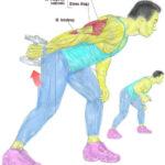 Trening tricepsa sztangielkami - tułów pochylony do przodu
